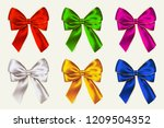 vector colorful bows. realistic ... | Shutterstock .eps vector #1209504352