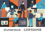 vector illustration in flat...   Shutterstock .eps vector #1209506908