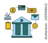 fin tech business   Shutterstock .eps vector #1209508612