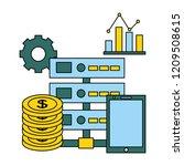 fin tech business   Shutterstock .eps vector #1209508615