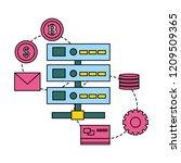 fin tech business   Shutterstock .eps vector #1209509365