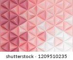 3d render triangle background...   Shutterstock . vector #1209510235