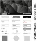 light gray vector ui ux kit in...