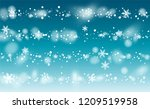 new year snow background.... | Shutterstock .eps vector #1209519958
