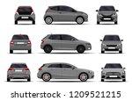 realistic cars set. hatchback.... | Shutterstock .eps vector #1209521215