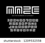 geometric vector letters and... | Shutterstock .eps vector #1209532558