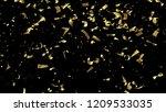falling golden confetti... | Shutterstock . vector #1209533035
