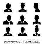 set of vector men and women... | Shutterstock .eps vector #1209533662