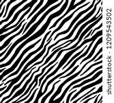 Zebra Fur Seamless Vector...