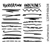 handmade collection set of... | Shutterstock .eps vector #1209548638