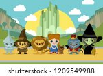 cute fairytale characters | Shutterstock .eps vector #1209549988
