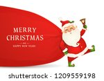 merry christmas. happy new year.... | Shutterstock .eps vector #1209559198