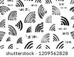 hand drawn sketch wi fi...   Shutterstock .eps vector #1209562828