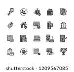 finance  money loan flat glyph...   Shutterstock .eps vector #1209567085