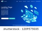 website landing page template.... | Shutterstock .eps vector #1209575035