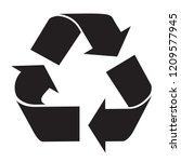 recycle logo symbol black and... | Shutterstock .eps vector #1209577945