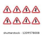 llustration of triangle warning ... | Shutterstock .eps vector #1209578008