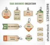 vector stickers  price tag ... | Shutterstock .eps vector #1209582898