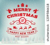merry christmas and happy new... | Shutterstock . vector #1209586618