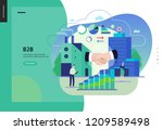 business series  color 3   b2b. ... | Shutterstock .eps vector #1209589498