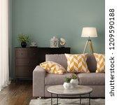 interior of modern living room... | Shutterstock . vector #1209590188