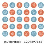 vector set of power and energy... | Shutterstock .eps vector #1209597868