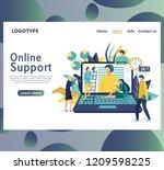 online global technical support ...   Shutterstock .eps vector #1209598225