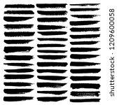 set of brush stroke  black ink... | Shutterstock .eps vector #1209600058