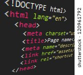 css and html code | Shutterstock .eps vector #120961792