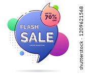 flash sale banner template | Shutterstock .eps vector #1209621568