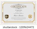 certificate or diploma retro... | Shutterstock .eps vector #1209624472
