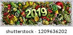 2019 hand drawn doodles...   Shutterstock .eps vector #1209636202