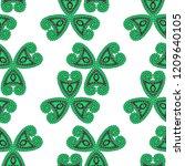 seamless hand drawn pattern...   Shutterstock .eps vector #1209640105