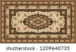 persian carpet texture.... | Shutterstock .eps vector #1209640735