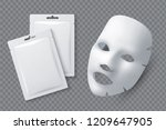 facial cosmetic mask.... | Shutterstock .eps vector #1209647905