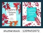 happy thanksgiving background.... | Shutterstock .eps vector #1209652072