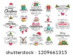 christmas decoration labels.... | Shutterstock .eps vector #1209661315