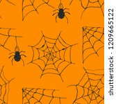 spider web seamless pattern... | Shutterstock .eps vector #1209665122