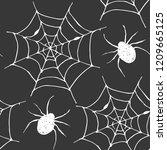 spider web seamless pattern... | Shutterstock .eps vector #1209665125