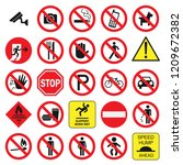 public signs vector collection... | Shutterstock .eps vector #1209672382