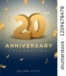 20 anniversary gold numbers... | Shutterstock .eps vector #1209678478