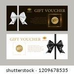 gift voucher certificate design ...   Shutterstock .eps vector #1209678535