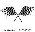 racing flags | Shutterstock .eps vector #120968362