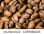 freshly roasted coffee  medium... | Shutterstock . vector #1209686635