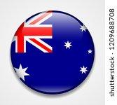 flag of australia. round glossy ... | Shutterstock .eps vector #1209688708