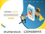 dating scams landing page... | Shutterstock .eps vector #1209688945