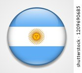 flag of argentina. round glossy ... | Shutterstock .eps vector #1209690685