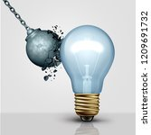 strong creative idea metaphor... | Shutterstock . vector #1209691732