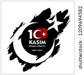 10 kasim november 10 death day... | Shutterstock .eps vector #1209694582