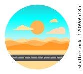 a summer image illustration... | Shutterstock .eps vector #1209695185